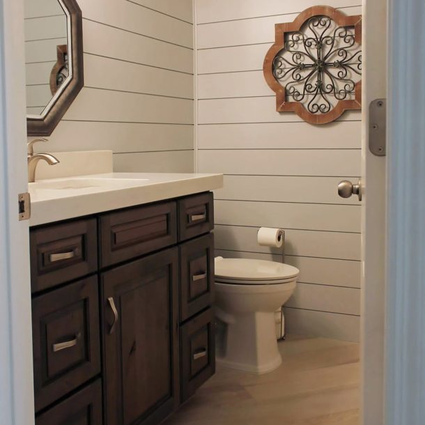 Scottsdale Powder Bath Remodel Shiplap walls