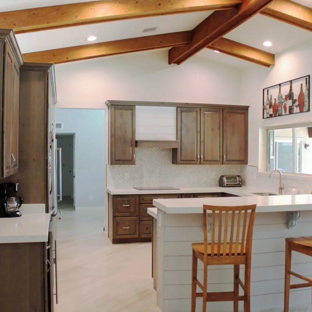 Scottsdale kitchen remodel shiplap peninsula